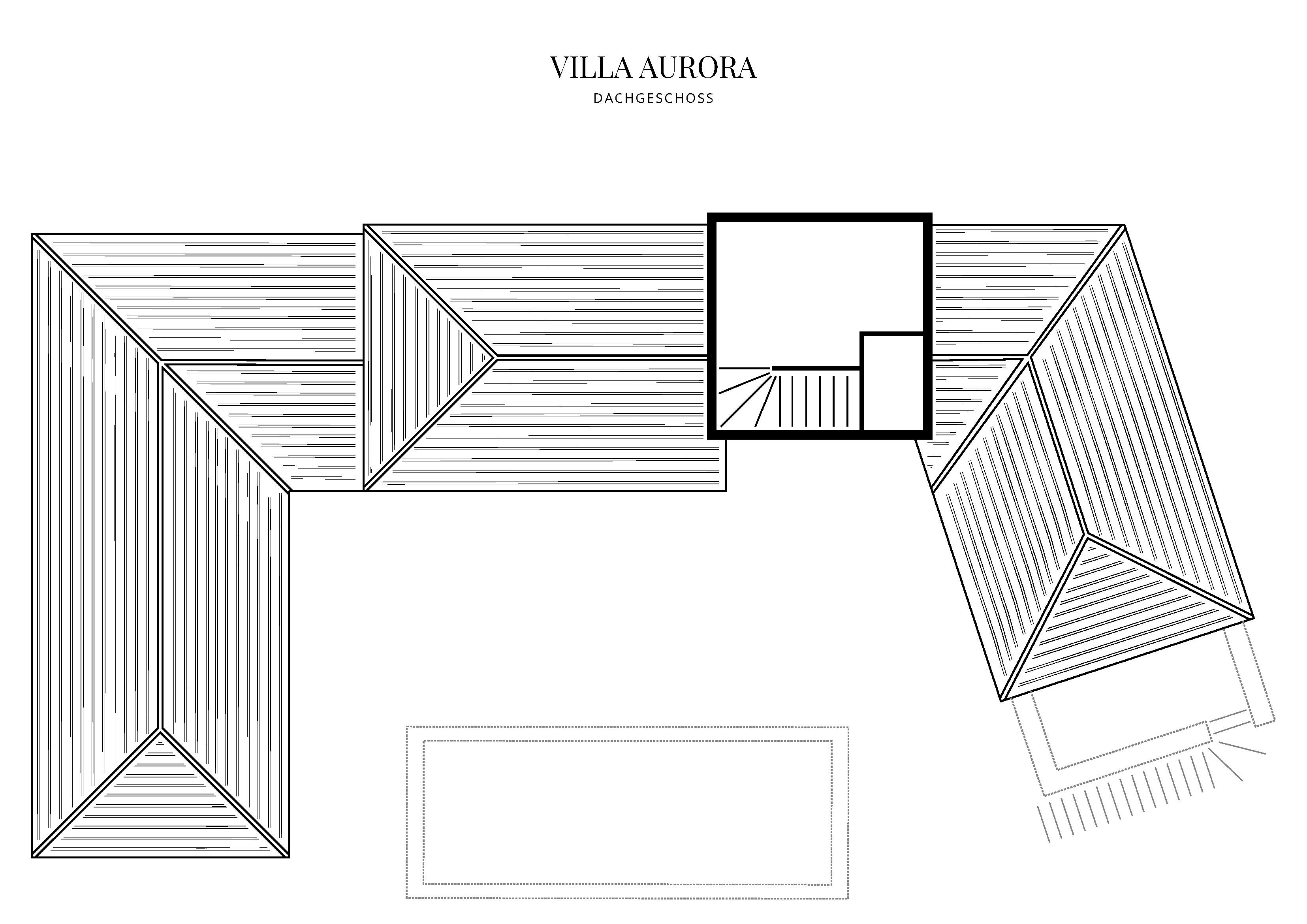 Grafik Grundriss Dachgeschoss Villa Aurora