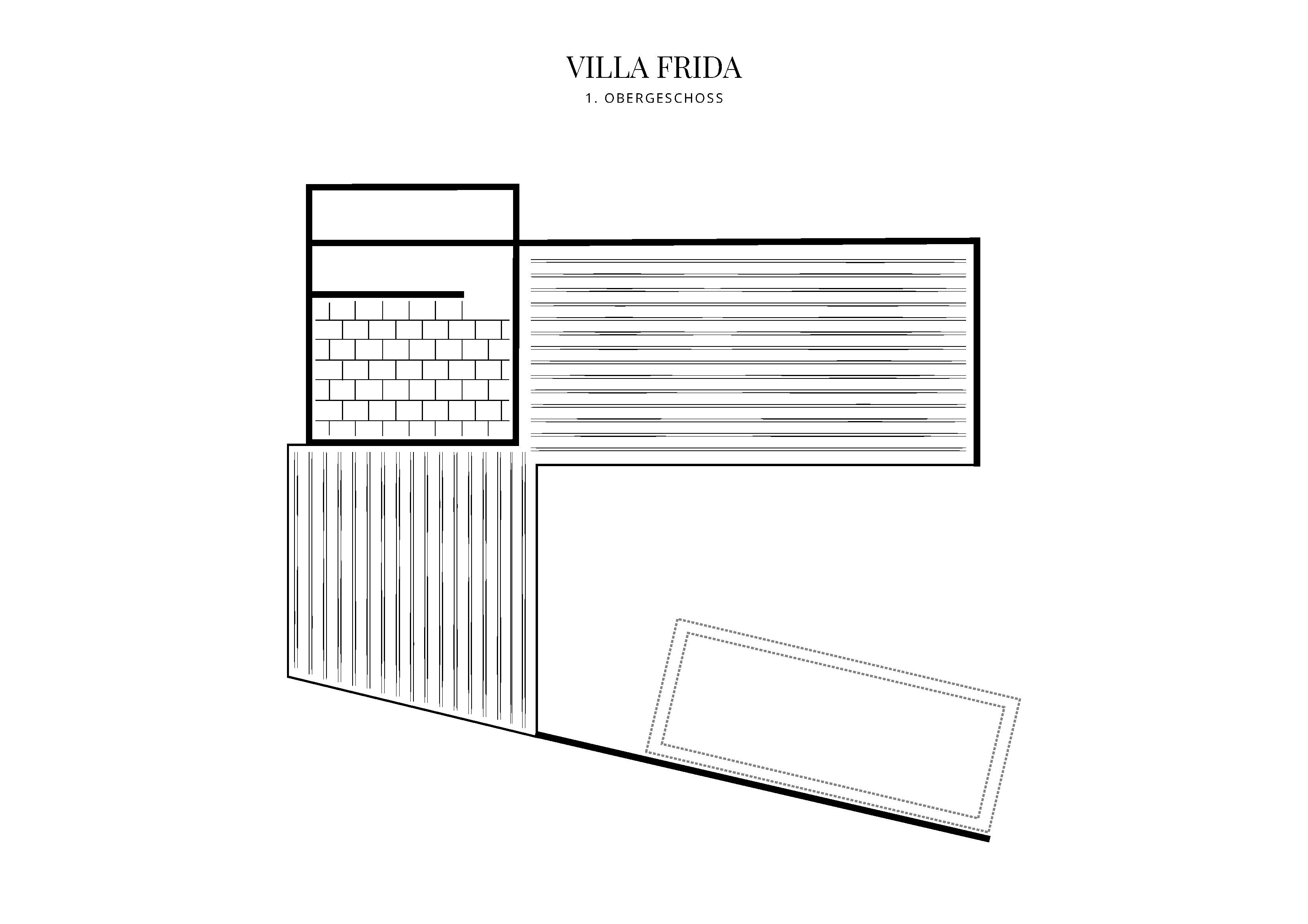 Grafik Grundriss Dachgeschoss Villa Frida